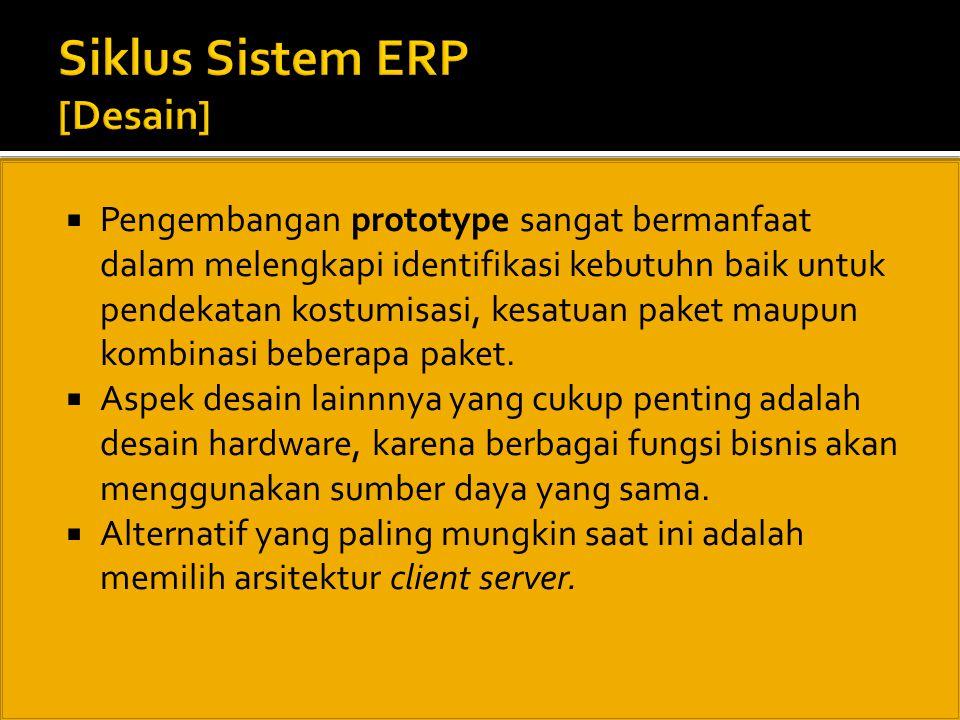 Siklus Sistem ERP [Desain]